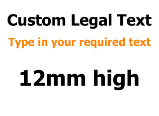 12mm Custom Vinyl Text