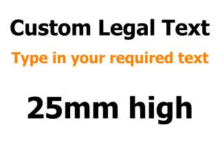 25mm Custom Vinyl Text