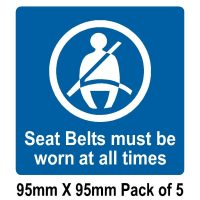 5 Seat belts must be worn at all times 95mm x 95mm