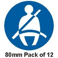 """Pack of 25 Seat Belt Stickers 2"""" (51mm)"""