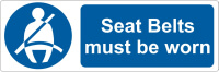 5 Seat belts must be worn Stickers 50mm x 150mm