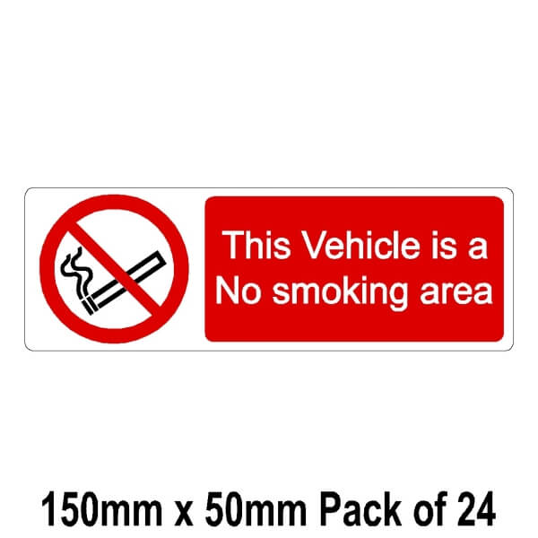 24 This Vehicle is a No smoking area 50mm x 150mm