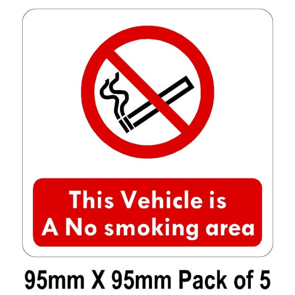 5 This Vehicle is a No smoking area  95mm x 95mm